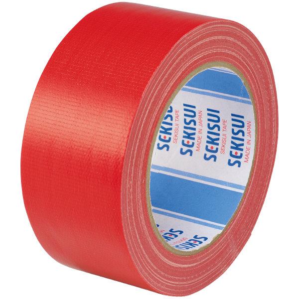 カラー布テープ No.600V 0.22mm厚 50mm×25m巻 赤 N60RV03 1箱(30巻入) 積水化学工業