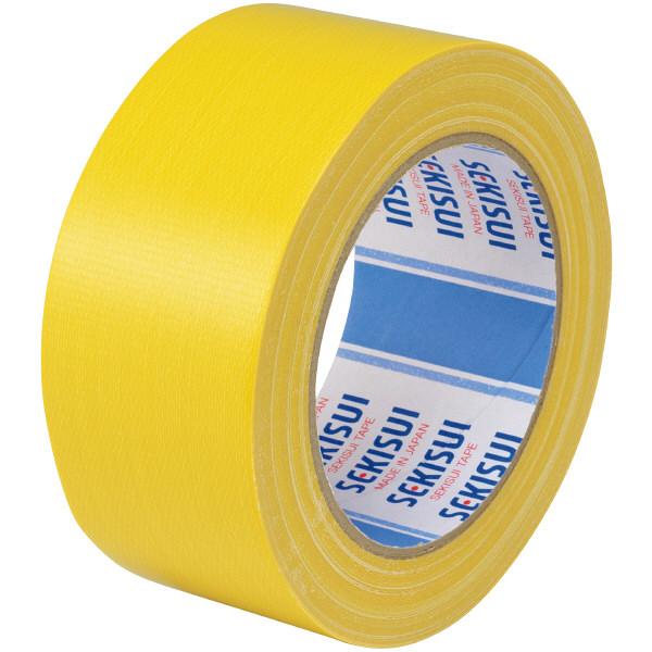 カラー布テープ No.600V 0.22mm厚 50mm×25m巻 黄 N60YV03 1箱(30巻入) 積水化学工業