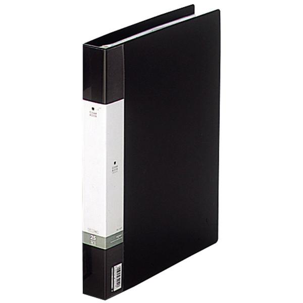 クリヤーブック 差し替え式 30穴 A4タテ 25ポケット 背幅3.5cm 3冊 黒 G3802-24 リヒトラブ
