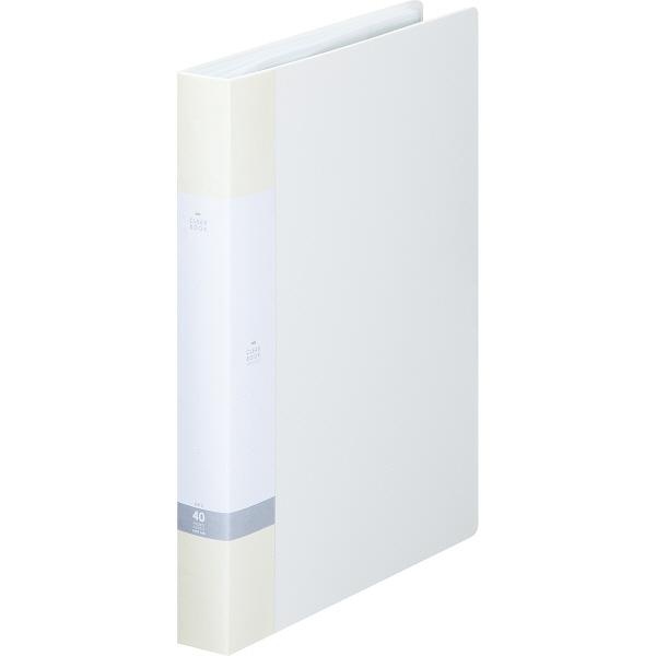 リヒトラブ リクエスト クリヤーブック A4タテ 40ポケット 白 G3202 業務用パック 1箱(10冊入)