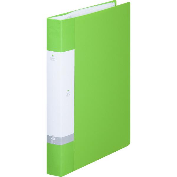 リヒトラブ リクエスト クリヤーブック A4タテ 40ポケット 黄緑 G3202 業務用パック 1箱(10冊入)