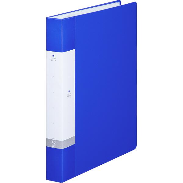 リヒトラブ リクエスト クリヤーブック A4タテ 40ポケット 青 G3202 業務用パック 1箱(10冊入)