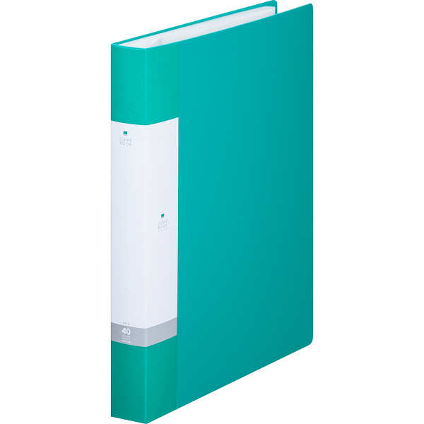 リヒトラブ リクエスト クリヤーブック A4タテ 40ポケット 緑 G3202 業務用パック 1箱(10冊入)
