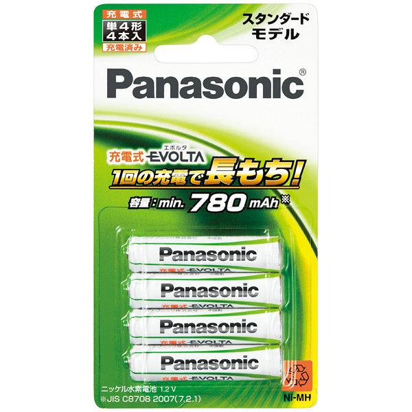 パナソニック ニッケル水素電池 充電式EVOLTA 単4×4本パック BK-4MLE/4B 1パック(4本入)