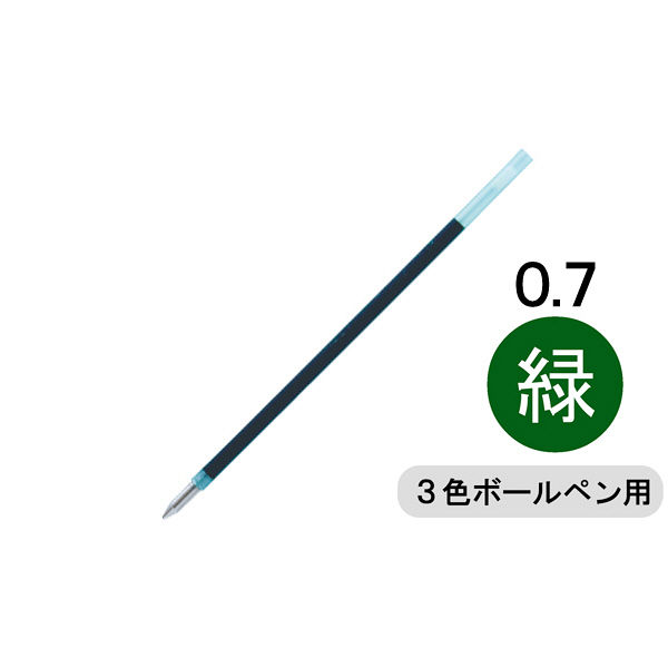 トンボ 油性多色替芯 0.7 緑10本