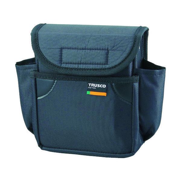 トラスコ中山(TRUSCO) TRUSCO 小型腰袋 二段フタ付 ブラック TC-52BK 1個 352-4604(直送品)