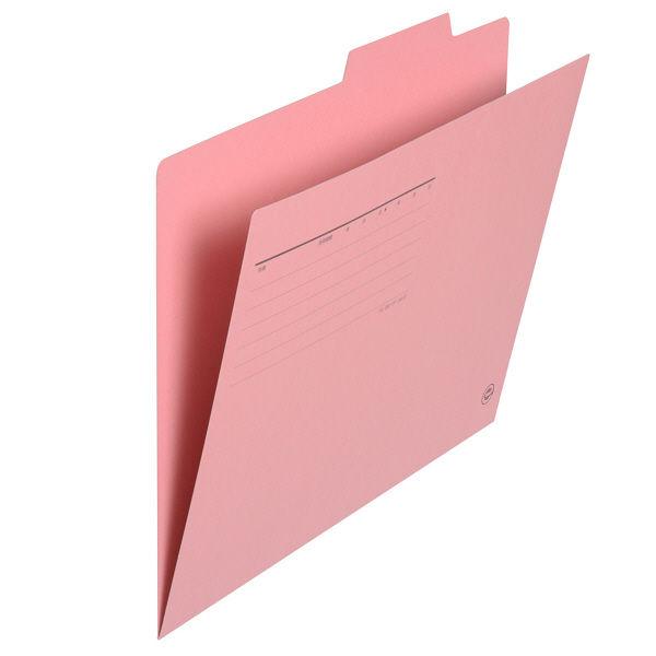 プラス 個別フォルダーA4 ピンク FL-061IF 87098 1箱(100枚)