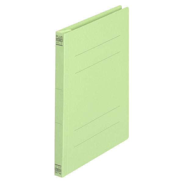 プラス フラットファイル樹脂製とじ具 A5タテ グリーン No.041N 10冊