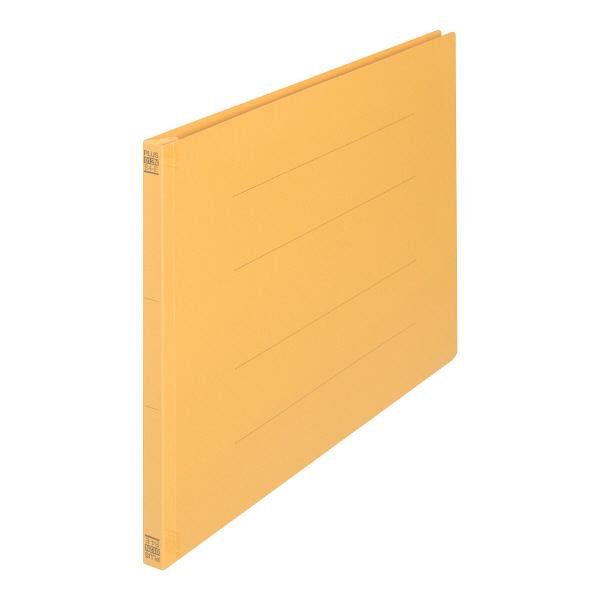 プラス フラットファイル樹脂製とじ具 B4ヨコ イエロー No.012N 10冊