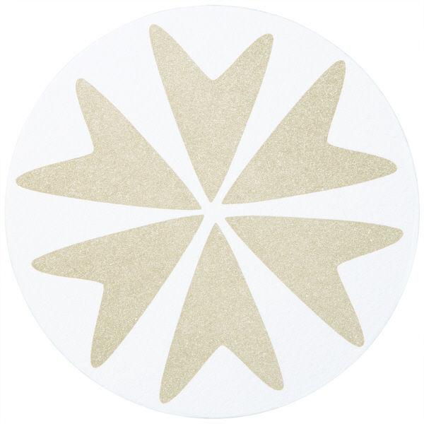 ペーパーコースター フラワーベージュ 1セット(300枚:100枚入×3パック) カミイソ産商