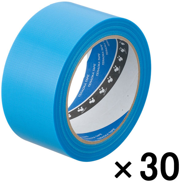 寺岡製作所 P-カットテープ 4140 強粘着 青 幅50mm×25m巻 1箱(30巻入)