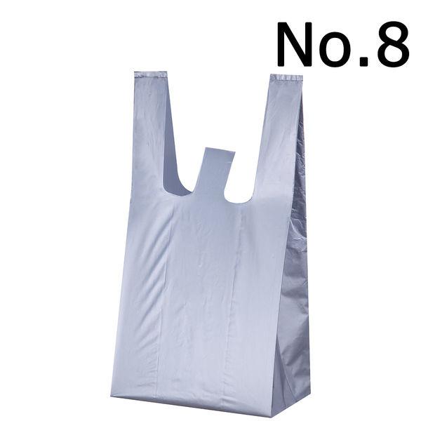 レジ袋 シルバー No.8 100枚