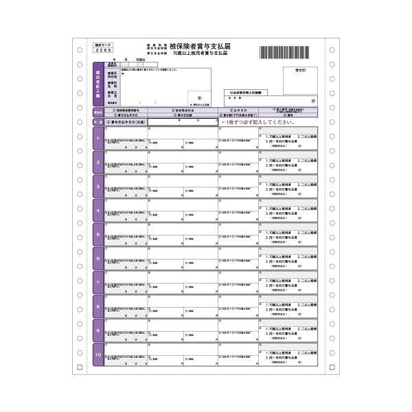 ヒサゴ 健保賞与支払届 BP1307 (取寄品)