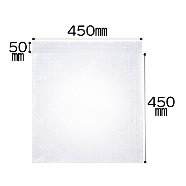 ミナパック(R)封筒袋 450×450+50mm 半透明 1パック(100枚入) 酒井化学工業