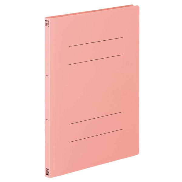 フラットファイルPP 桃 A4タテ 5冊