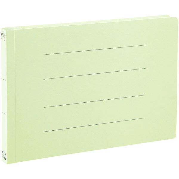 アスクル フラットファイル A5ヨコ グリーン エコノミータイプ 10冊