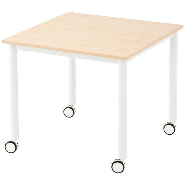 アール・エフ・ヤマカワ キャスターテーブル 角型 ナチュラル 幅800×奥行800×高さ700mm RFCTT-WL8080NA