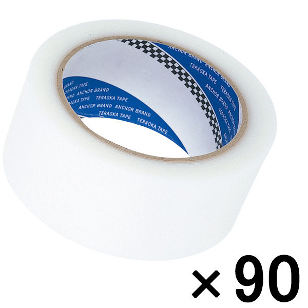 寺岡製作所 P-カットテープ 4140 強粘着 半透明 幅50mm×25m巻 1セット(90巻:30巻入×3箱)