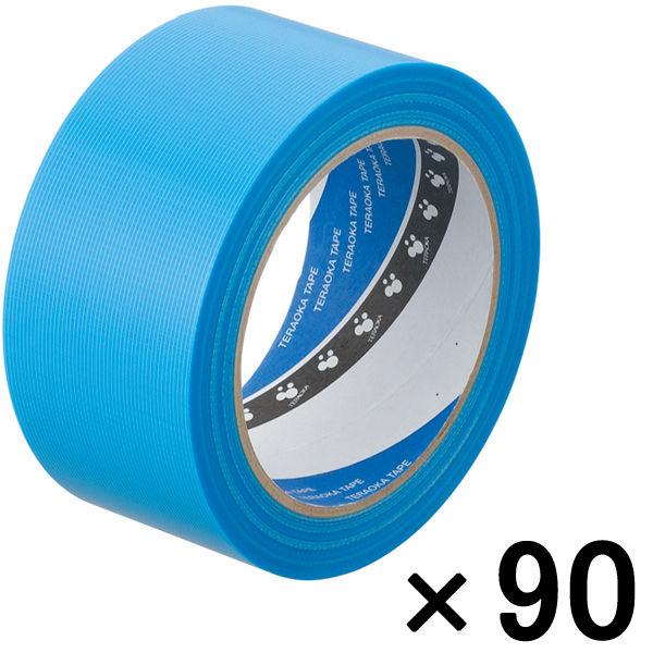 寺岡製作所 P-カットテープ 4140 強粘着 青 幅50mm×25m巻 1セット(90巻:30巻入×3箱)