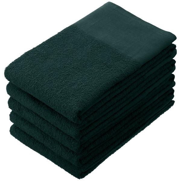 長いタオル 黒 1パック(5枚入)