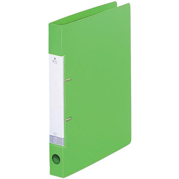 D型リングファイル A4 黄緑 10冊