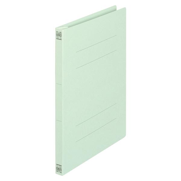 プラス フラットファイル樹脂製とじ具 B5タテ ブルー No.031N 100冊