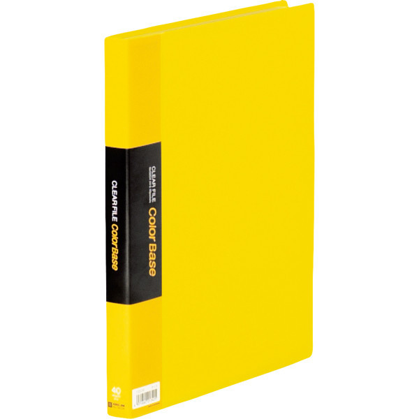 キングジム クリアーファイルカラーベース(タテ入れ) A4タテ 40ポケット 黄 1箱(30冊:10冊入×3箱)