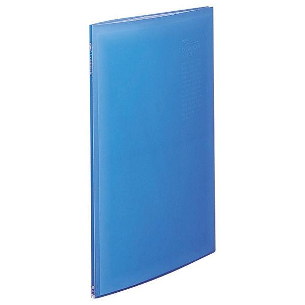 リヒトラブ リクエスト クリヤーブック A2タテ 20ポケット ブルー 業務用パック 1箱(12冊:4冊入×3箱) G3117