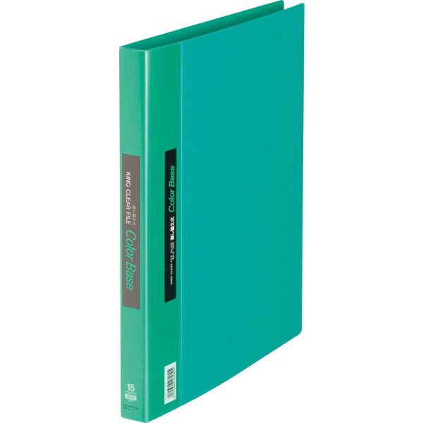 キングジム クリアファイル 差し替え式 5冊 A4タテ背幅25mm カラーベース 緑 139