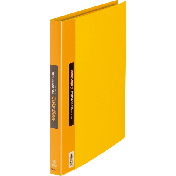 キングジム クリアファイル 差し替え式 5冊 A4タテ背幅25mm カラーベース 黄 139