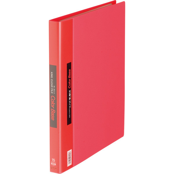 キングジム クリアファイル 差し替え式 5冊 A4タテ背幅25mm カラーベース 赤 139