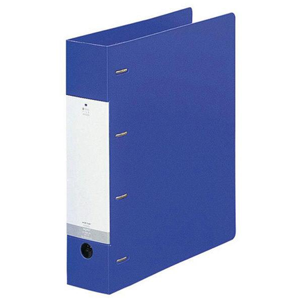 リヒトラブ リクエスト D型リングファイル(A4タテ4穴) リング内径50mm 青 G1280 1箱(10冊入)