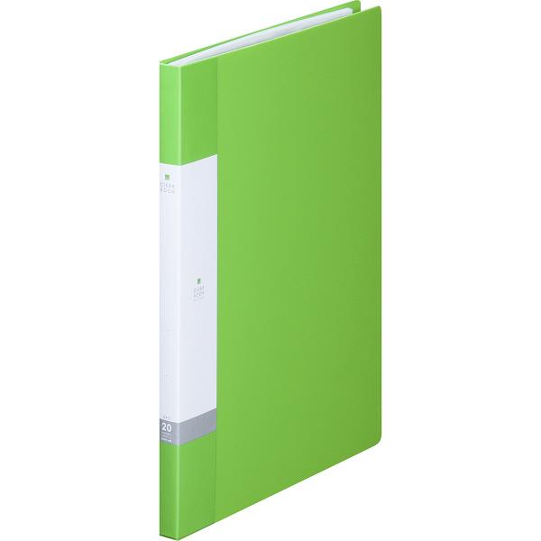 リヒトラブ リクエスト クリヤーブック A4タテ 20ポケット 黄緑 G3201 スーパー業務用パック 1セット(30冊:10冊入×3箱)