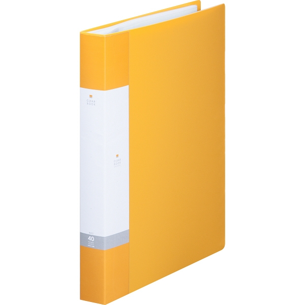 リヒトラブ リクエスト クリヤーブック A4タテ 40ポケット 黄 G3202 スーパー業務用パック 1セット(30冊:10冊入×3箱)
