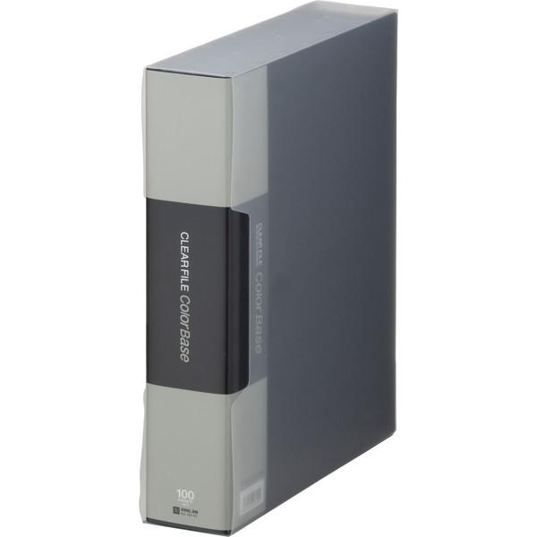 キングジム クリアーファイルカラーベース A4タテ100ポケット 309×244×64mm 黒 スーパー業務用パック 1パック(30冊入)