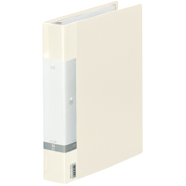 クリヤーブック 差し替え式 30穴 A4タテ 35ポケット 背幅5.0cm 12冊 白 G3803-0 リヒトラブ