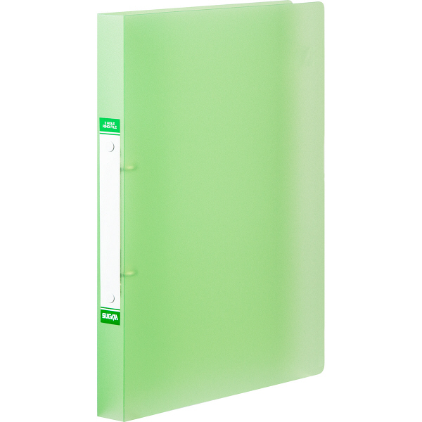 ハピラ リングファイル丸型2穴 A4タテ 背幅25mm カラバリ グリーン