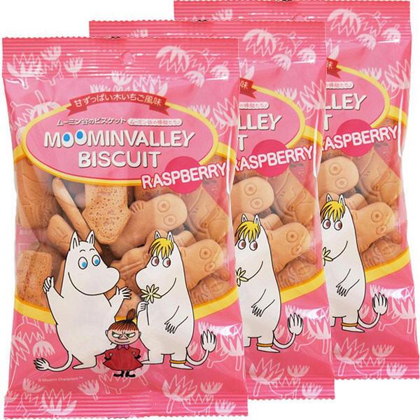 ムーミン袋ビスケットラズベリー 3袋