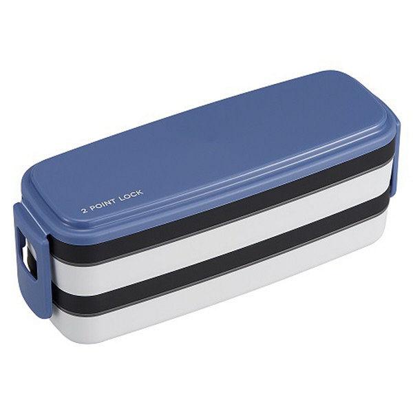小食さんお弁当箱2段 650ml ブルー