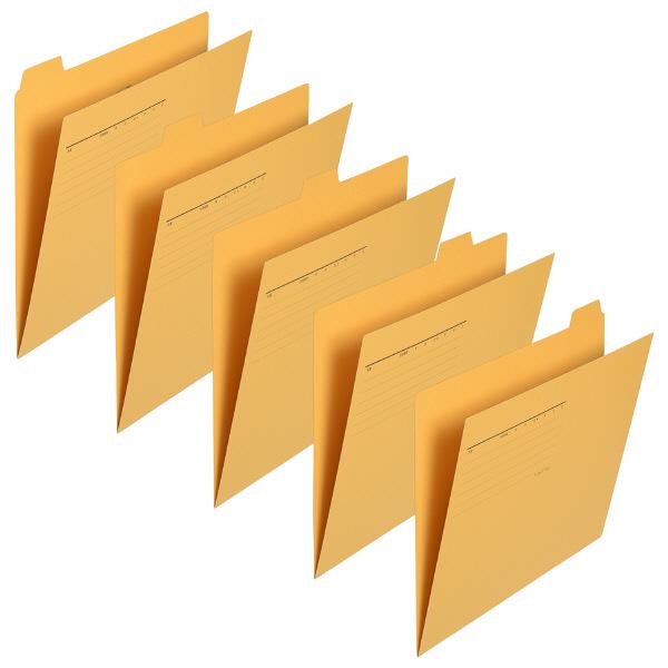カットフォルダー マチなし5山 黄 5枚