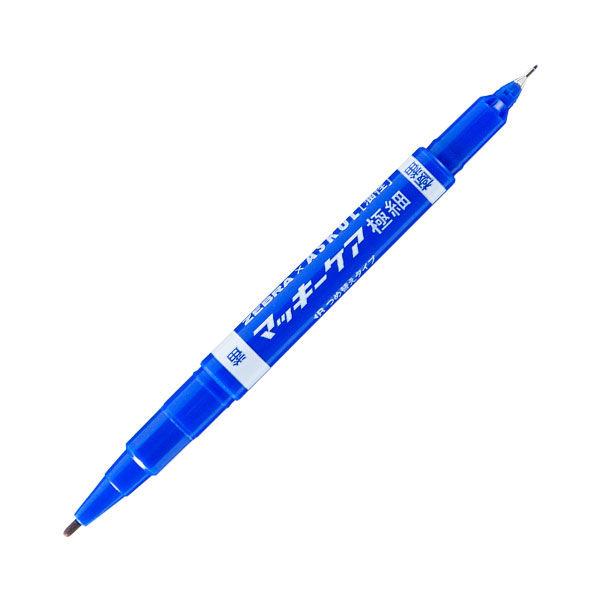 マッキーケア極細 青 油性ペン