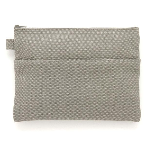 無印良品 帆布小物ケース・平型(約25×18cm)