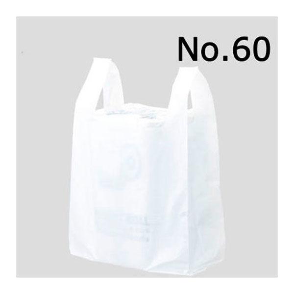 レジ袋 乳白 60号 100枚