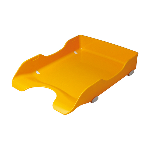デスクトレー A4タテ 黄