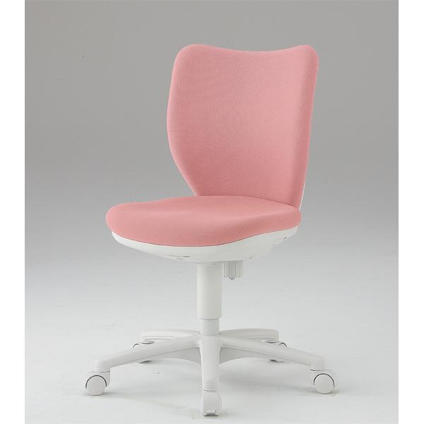 アイリスチトセ BITシリーズ オフィスチェア ホワイトシェル ローバック 肘無し ピンク BIT-WX45-P 1脚 (直送品)