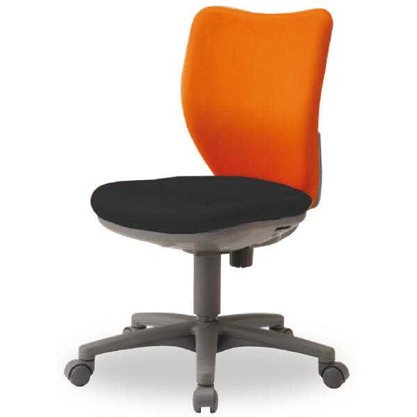 アイリスチトセ BIT-Xシリーズ オフィスチェア ローバック 布張り 肘無し オレンジ/ブラック BIT-X45LO-F 1脚 (直送品)