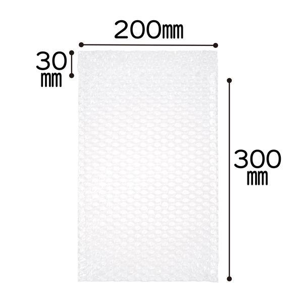 ミナパック(R)封筒袋 200×300+30mm 半透明 1セット(300枚:100枚入×3パック) 酒井化学工業