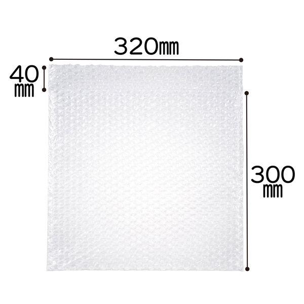 ミナパック(R)封筒袋 320×300+40mm 半透明 1セット(300枚:100枚入×3パック) 酒井化学工業