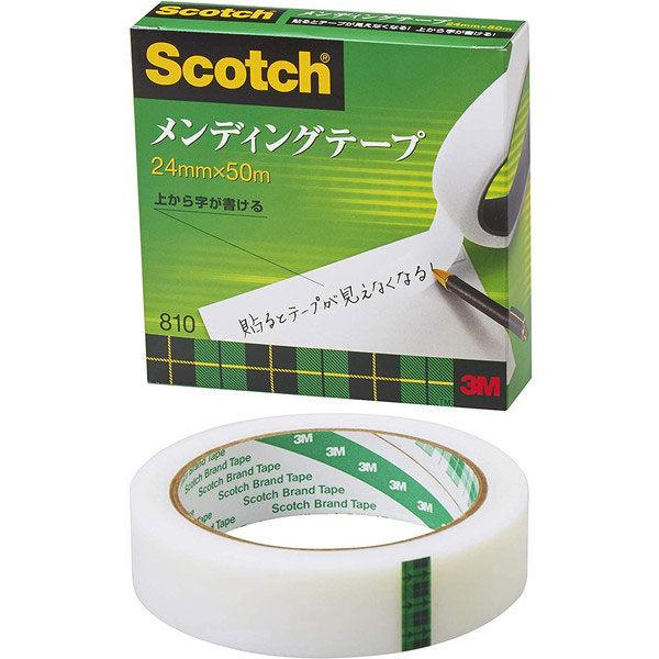スリーエム スコッチ(R)メンディングテープ 24mm×50m大巻 810-3-24 1セット(3巻:1巻×3)