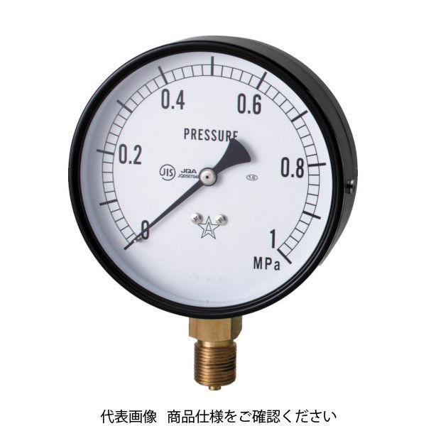 右下精器製造 右下 スター (圧力計)(A枠立型・φ75) 圧力レンジ0.0~0.40MPa S-31-0.4MP 1個 321-3994(直送品)